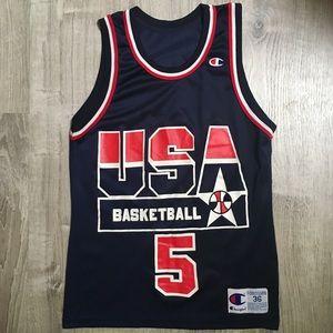 Rare Champion Mark Price USA Basketball Jersey